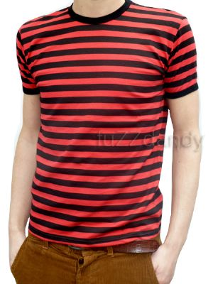 Mens Stripey Tee (red & black t-shirt)